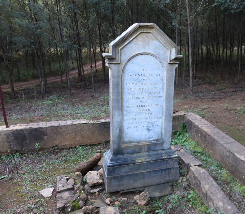Greytown Sarie Mare grave