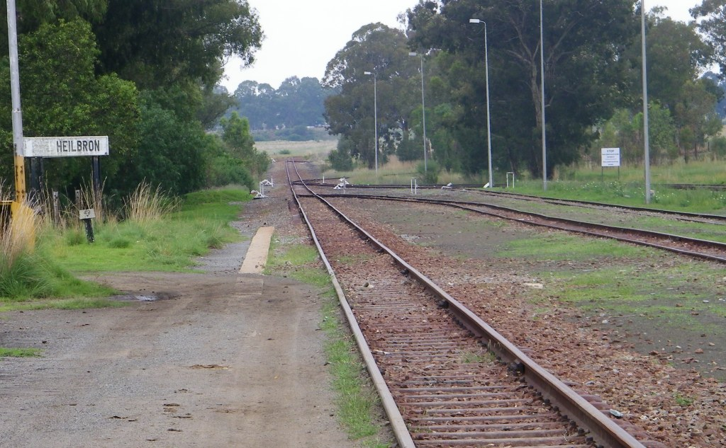 Heilbron station lines out south